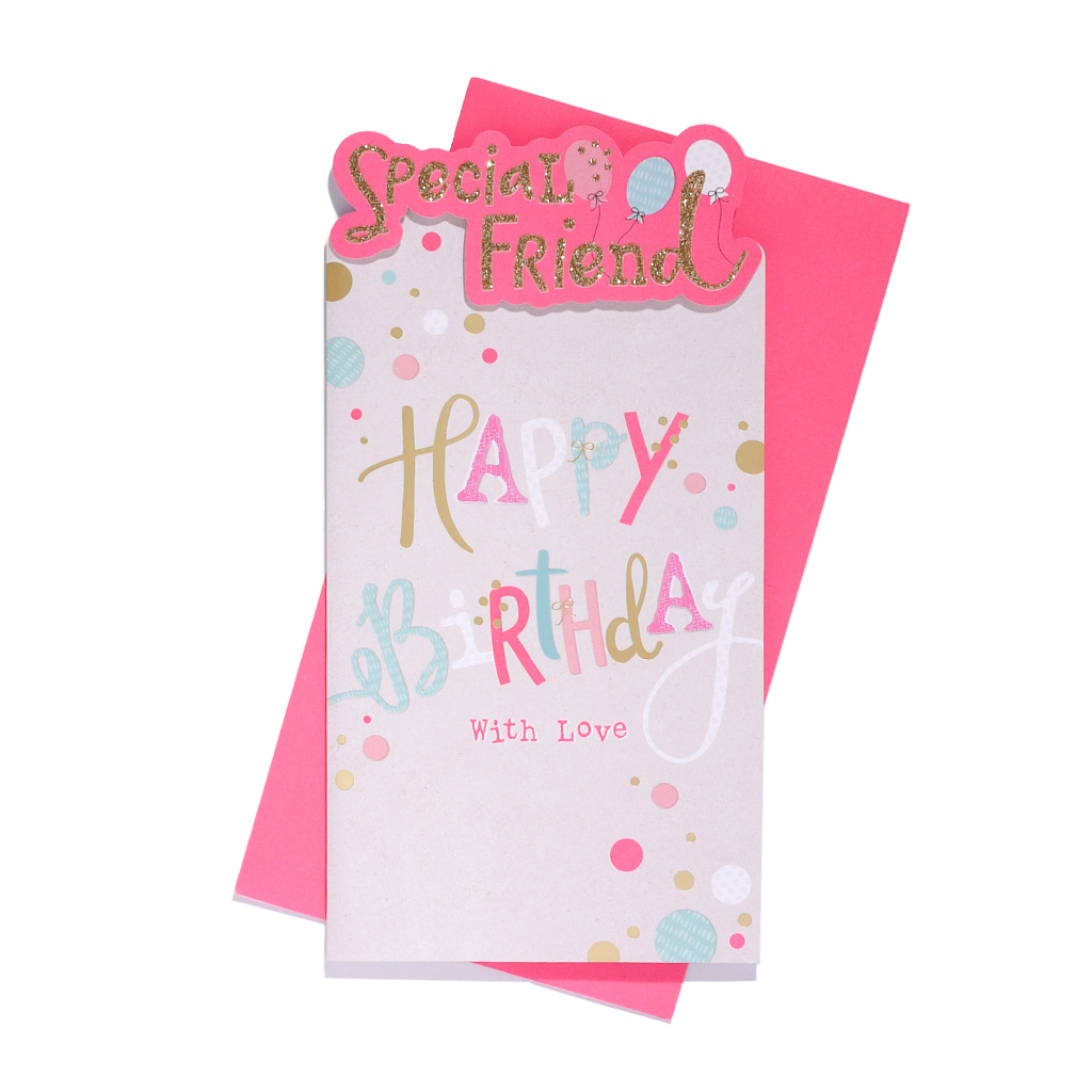 6pk Cards C55 Birthday Friend