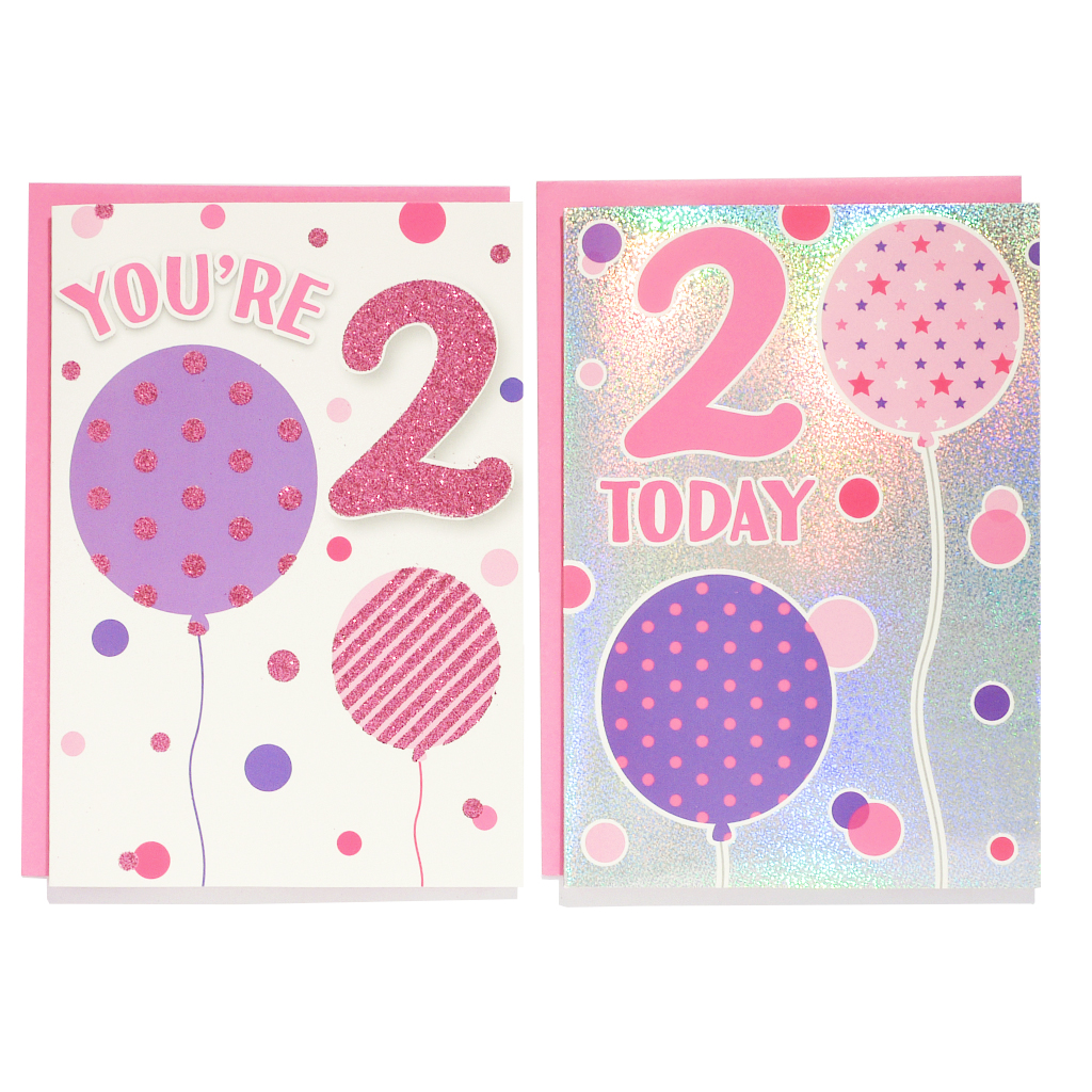 12pk Cards C50 Birthday Age 2