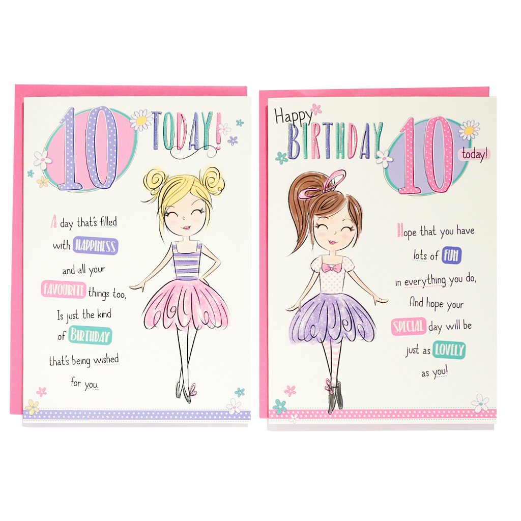 12pk Cards C50 Birthday Age 10