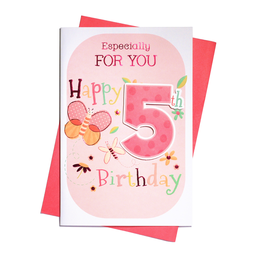 6pk Cards C75 Birthday Age 5