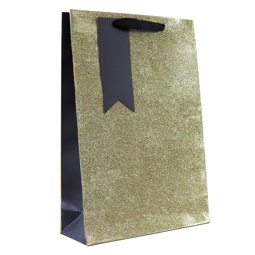 6pk Giftbags Double Bottle Gold