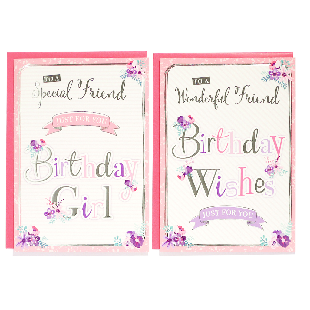 12pk Cards C50 Birthday Friend