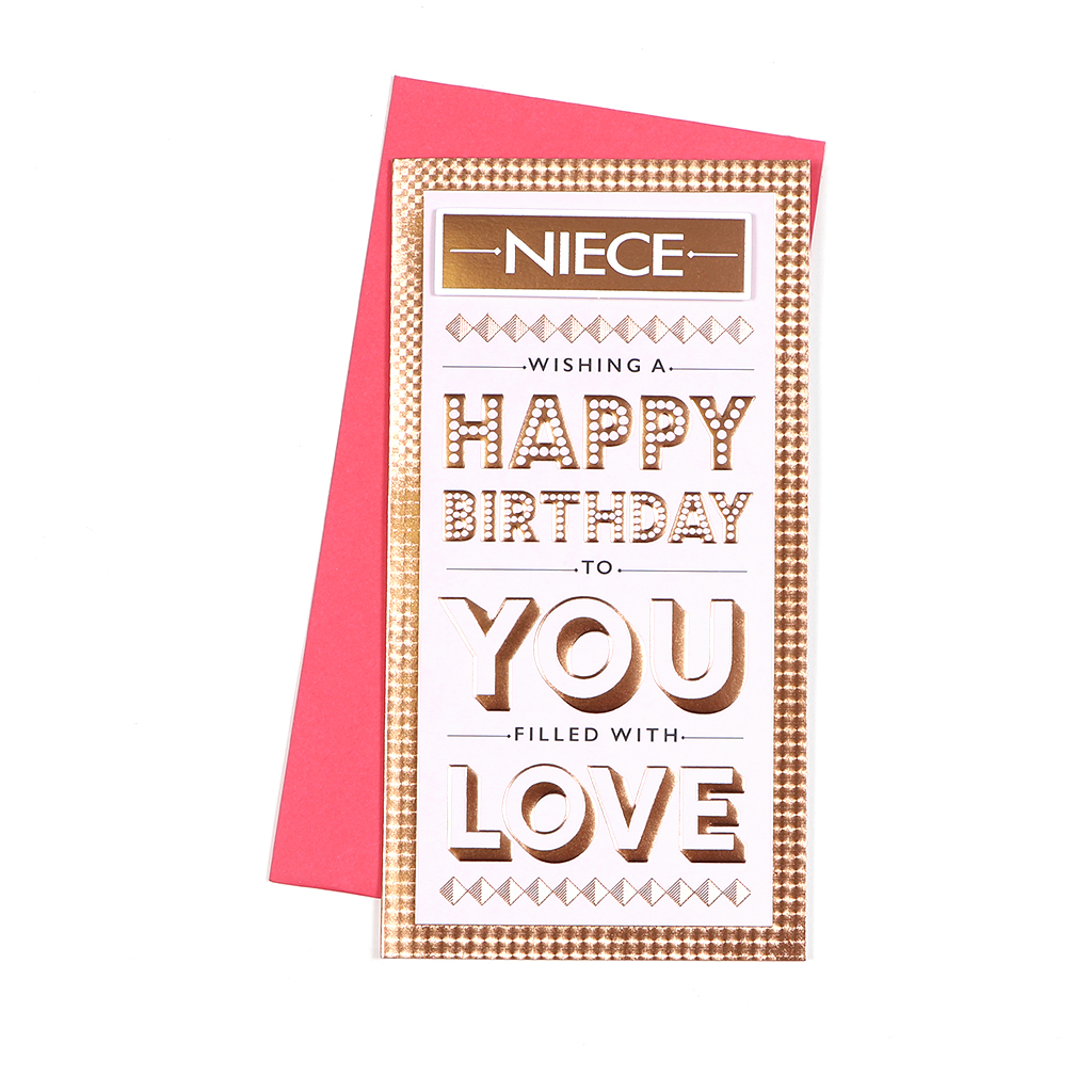 6pk Cards C55 Birthday Niece