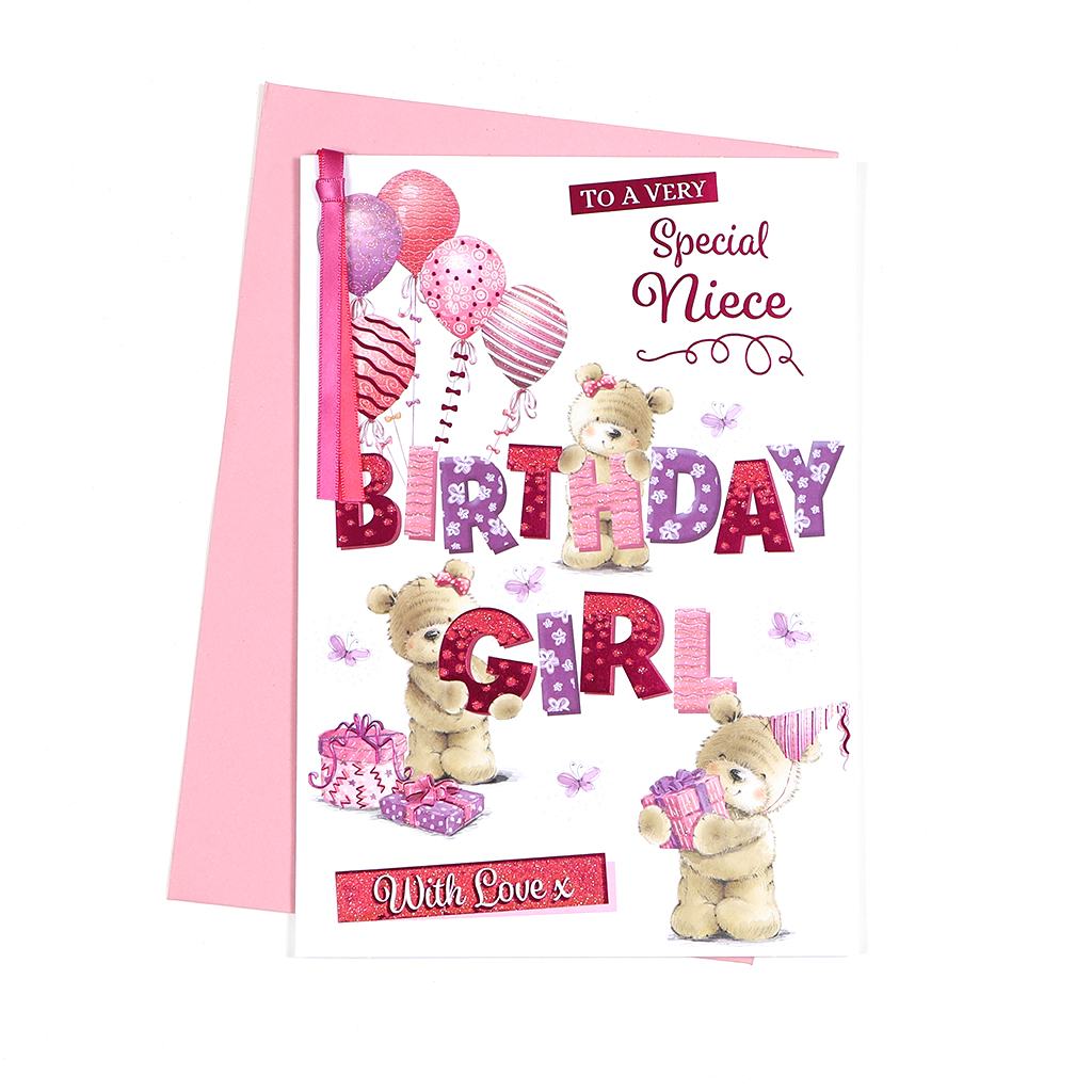 6pk Cards C90 Birthday Niece