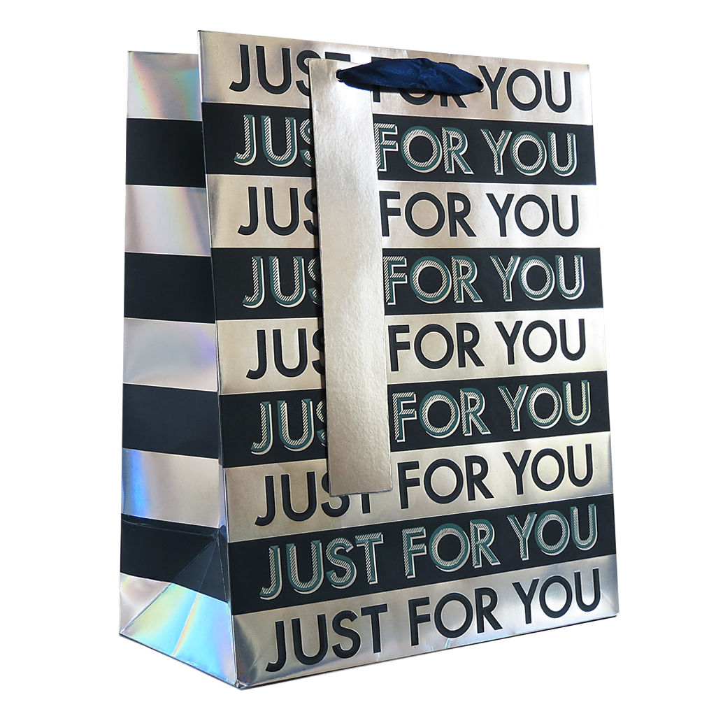 6pk Giftbags Large Portrait Text