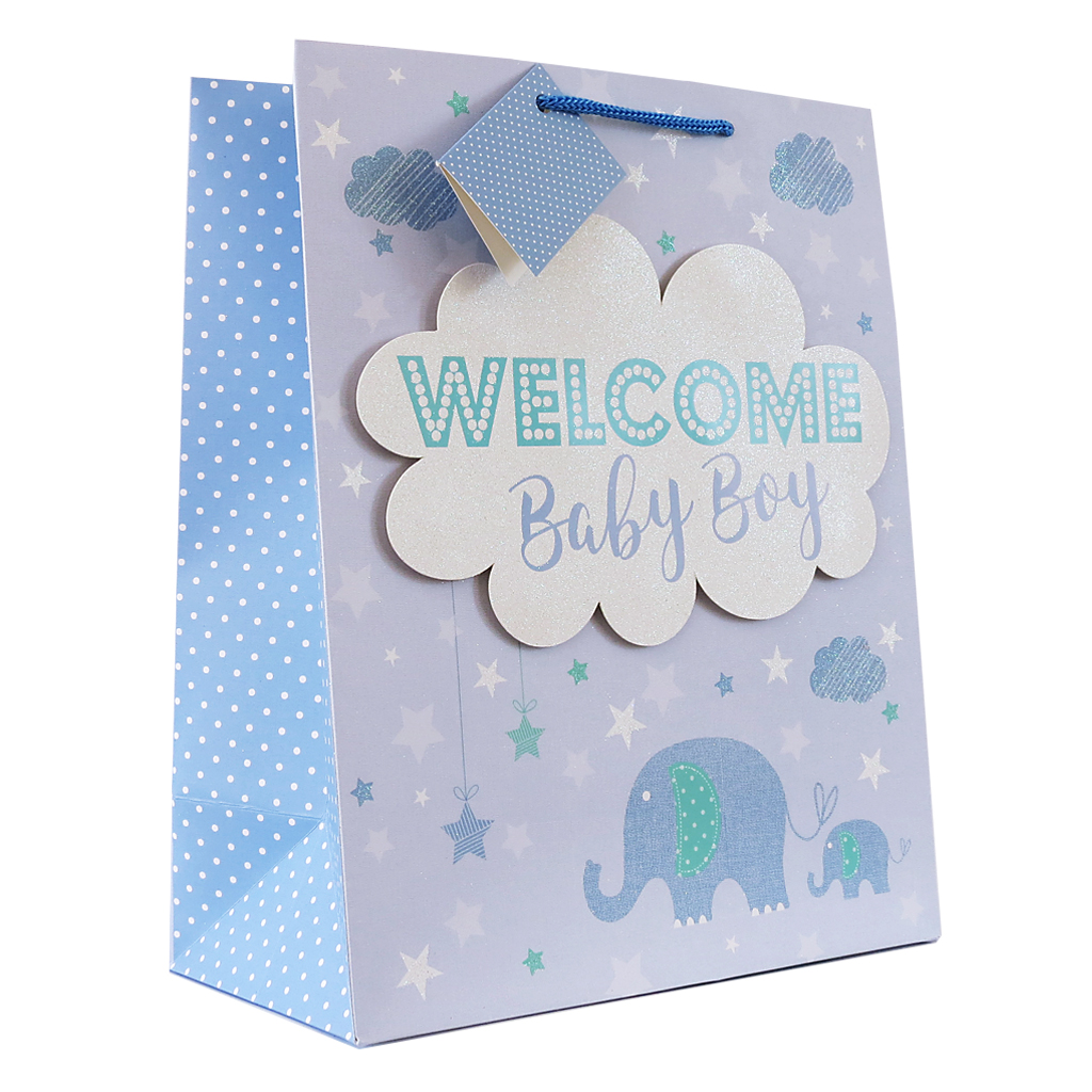 6pk Giftbags Extra Large Portrait Birth Congratulations
