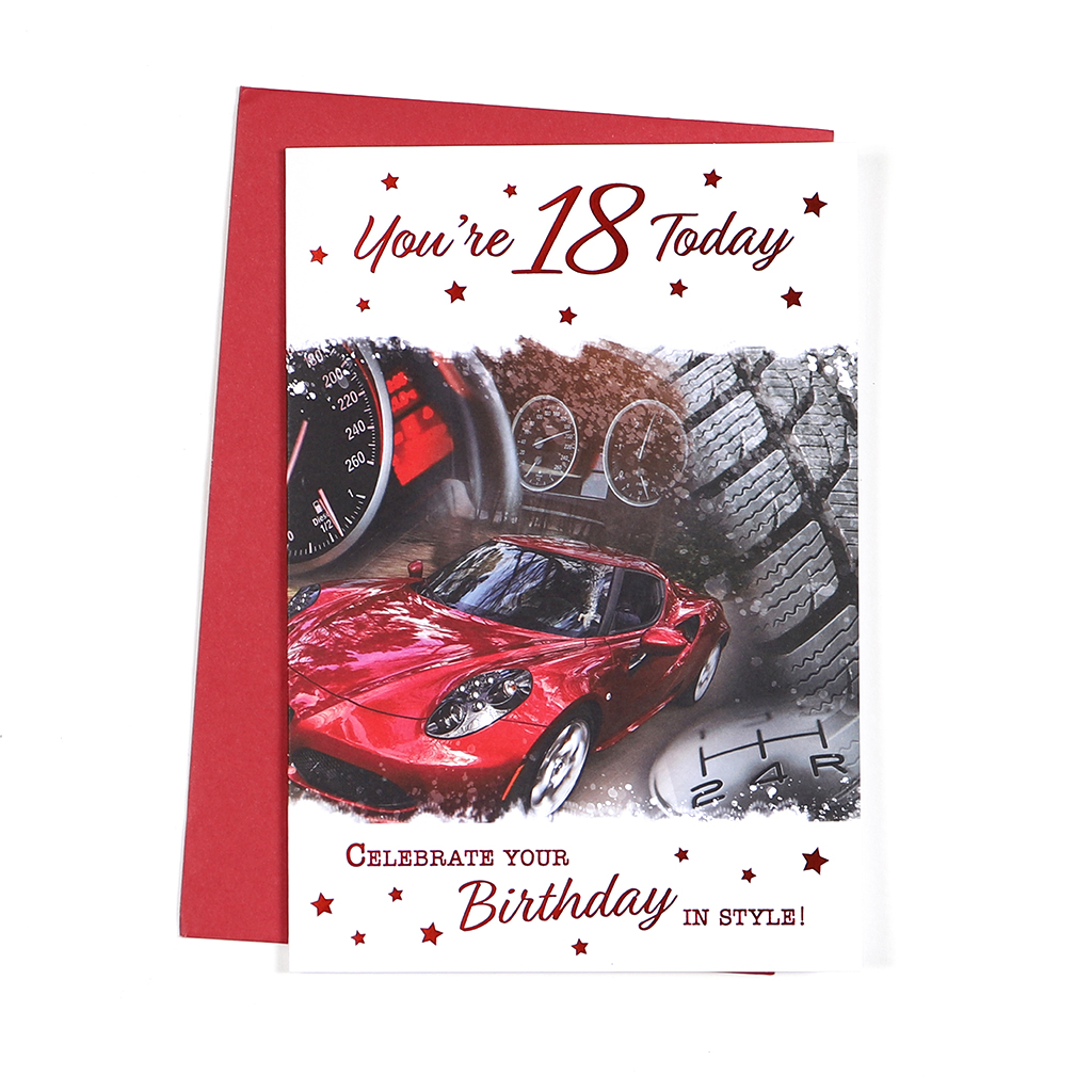 6pk Cards C50 Birthday Age 18