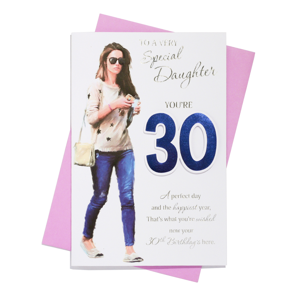 6pk Cards C75 Birthday Age 30 Daughter