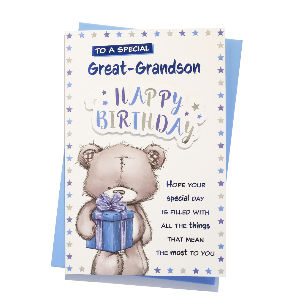 6pk Cards C150 Birthday Great-Grandson