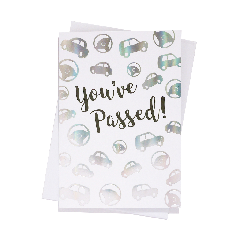 6pk Cards C50 Congratulations Driving Test