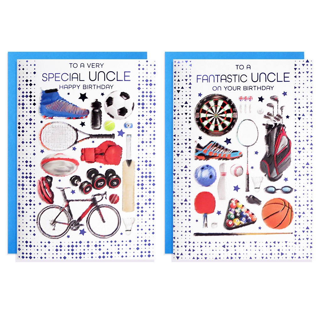 12pk Cards C50 Birthday Uncle