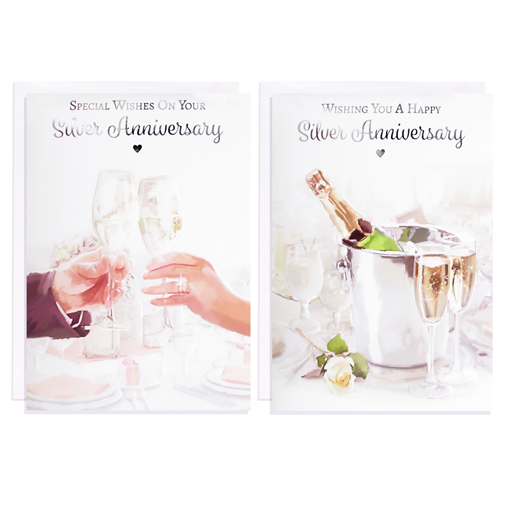 12pk Cards C50 Your Silver Anniversary