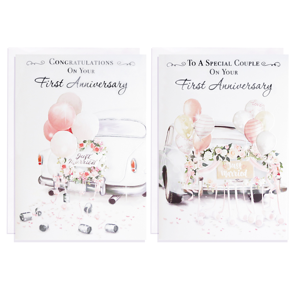 12pk Cards C50 Your 1st Anniversary