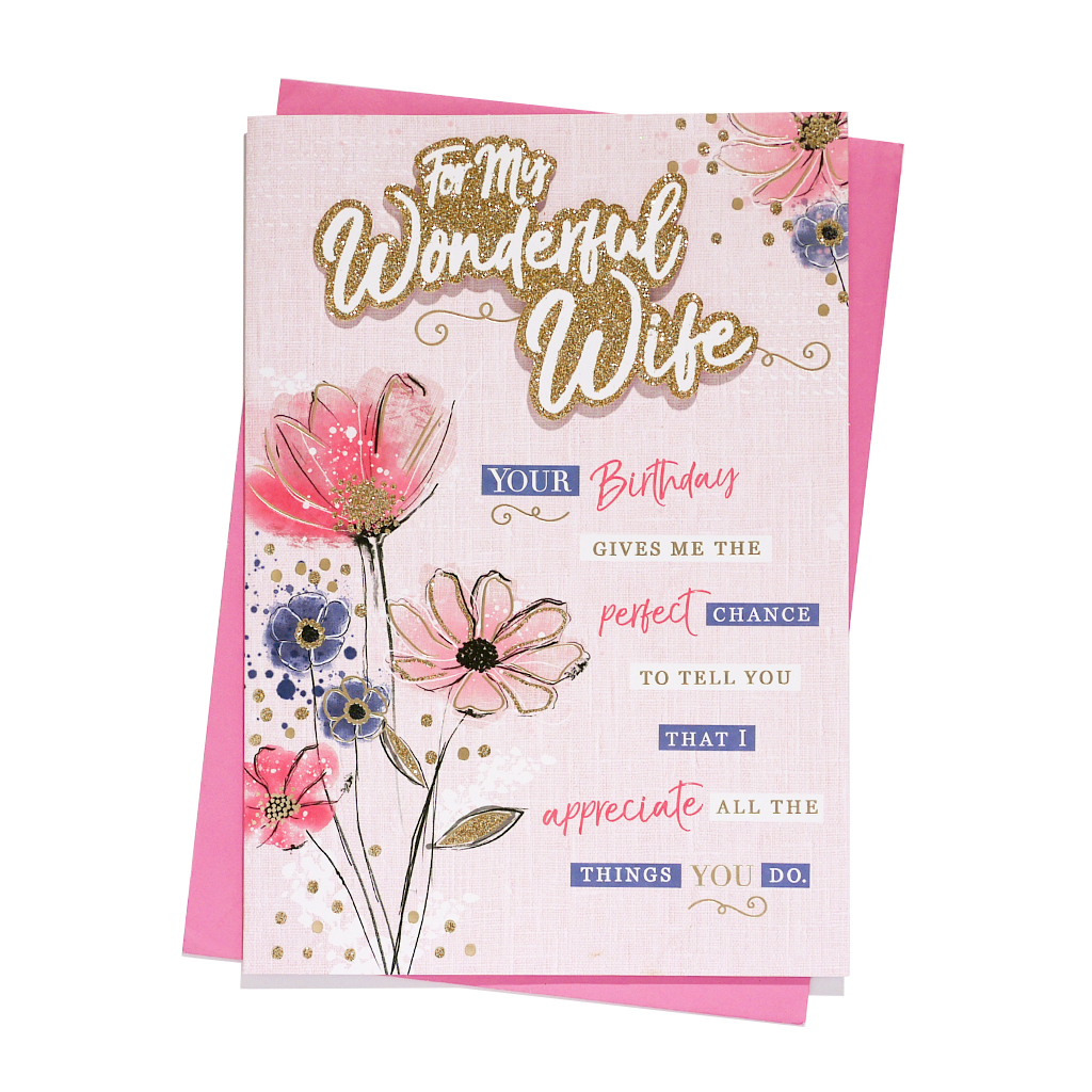 6pk Cards C90 Birthday Wife
