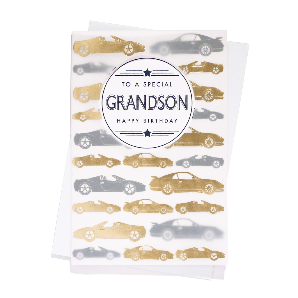 6pk Cards C75 Birthday Grandson