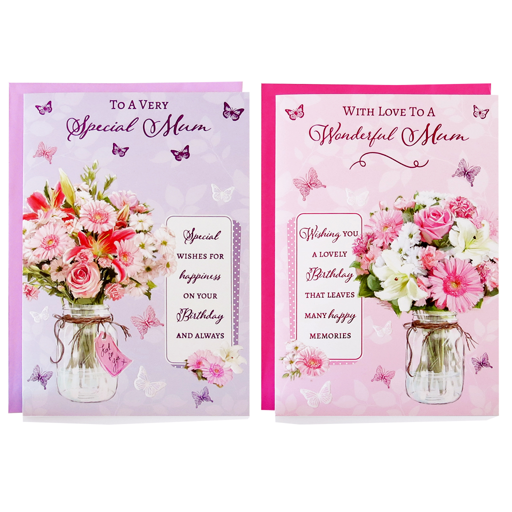 12pk Cards C50 Birthday Mum