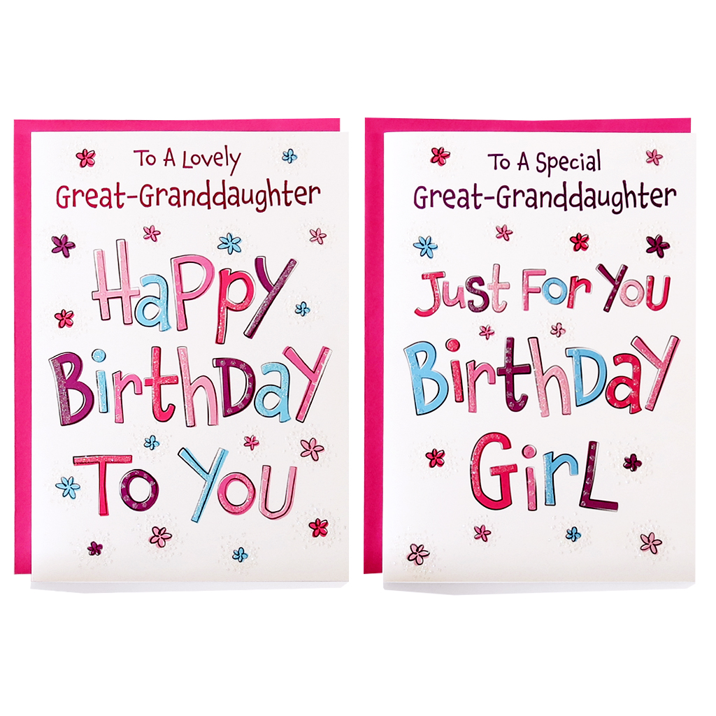 12pk Cards C50 Birthday Great-Granddaughter