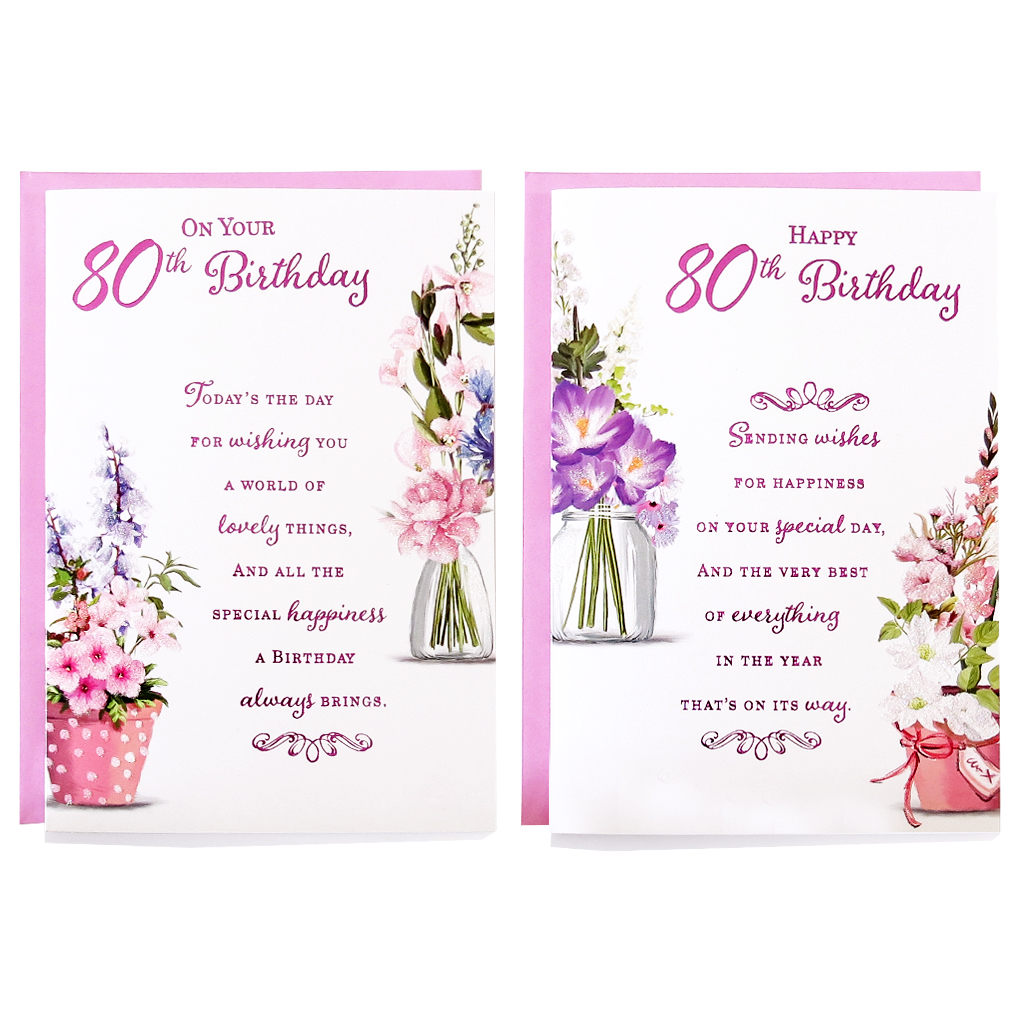 12pk Cards C50 Birthday Age 80
