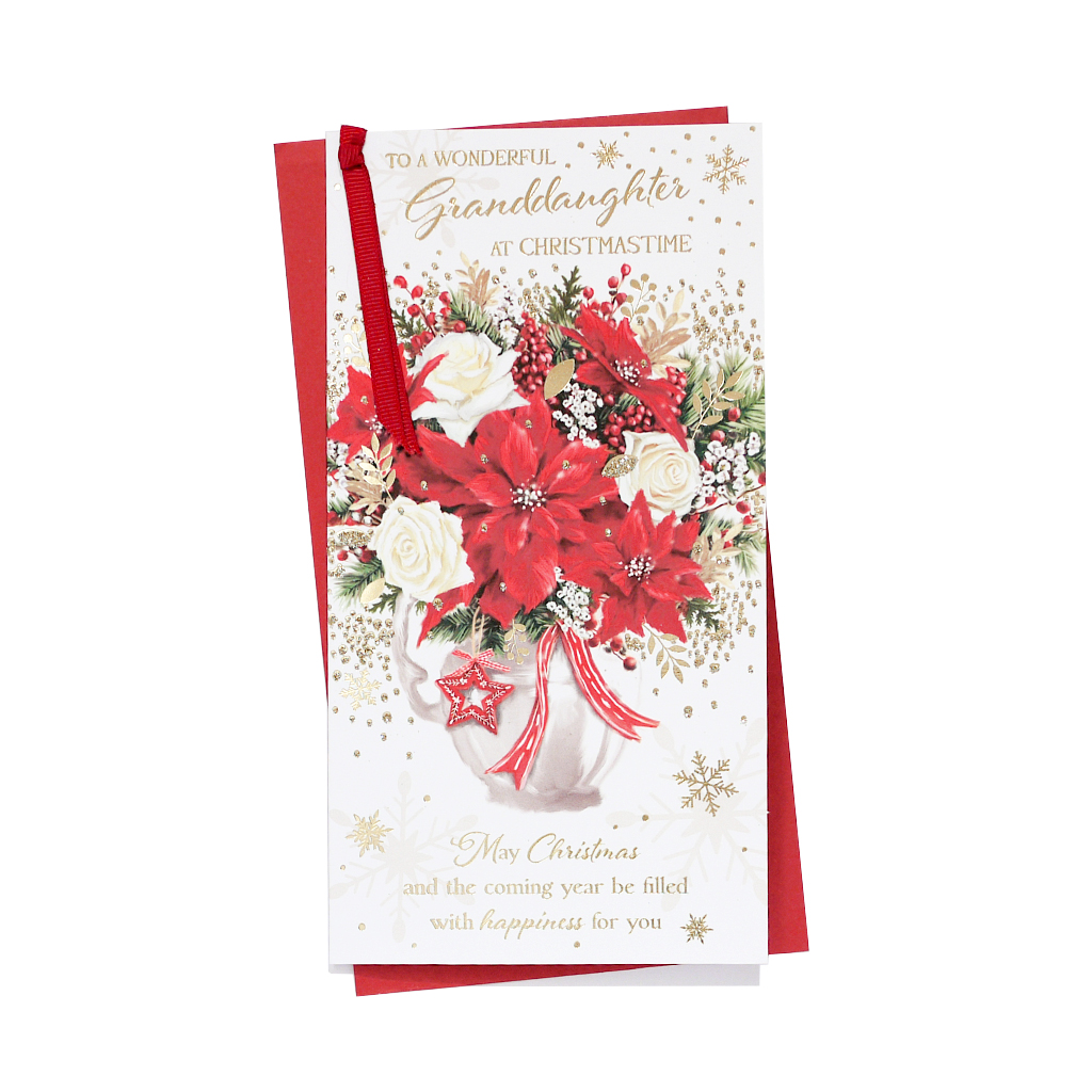 6pk Cards C55 Granddaughter Christmas