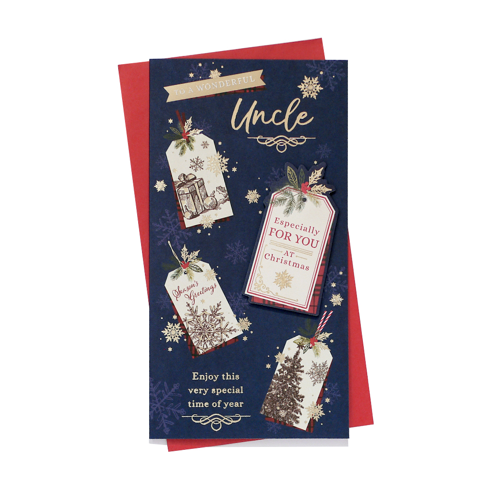 6pk Cards C55 Uncle Christmas