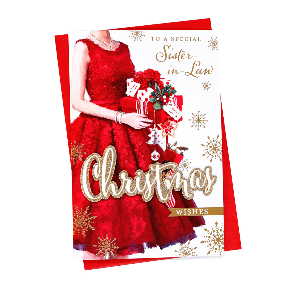 6pk Cards C75 Sister-In-Law Christmas
