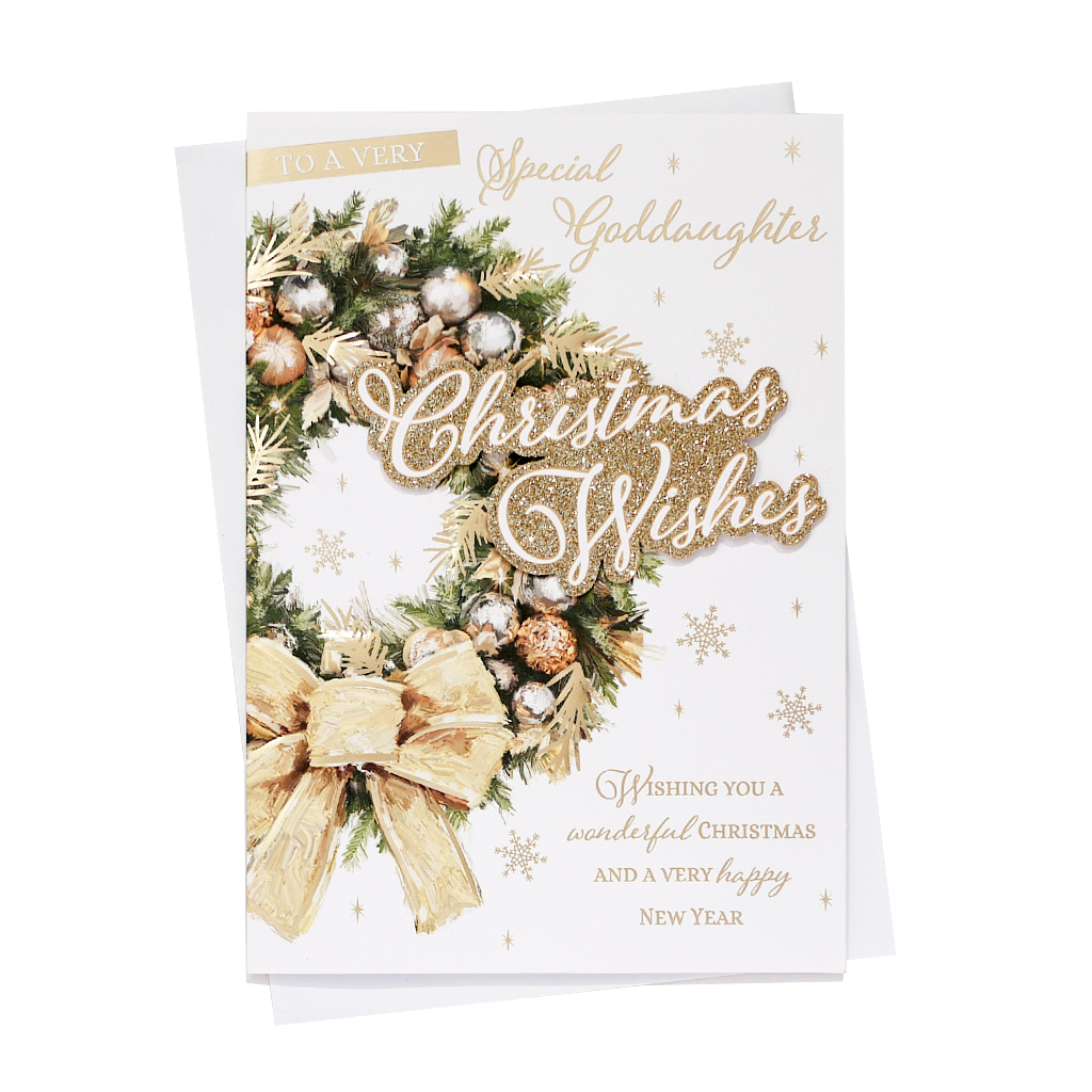 6pk Cards C90 Goddaughter Christmas