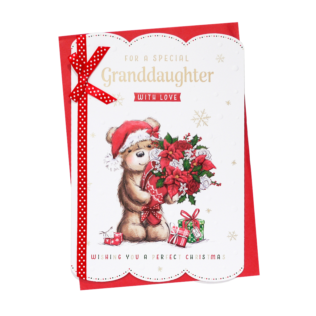 6pk Cards C90 Granddaughter Christmas