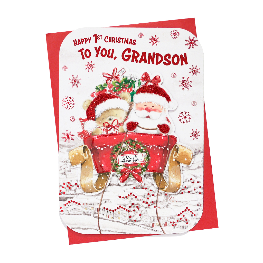 6pk Cards C90 Grandson's 1st Christmas