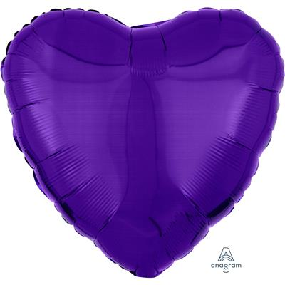 1059701|5pk Foil Balloons Solid Colour Metallic Purple S15