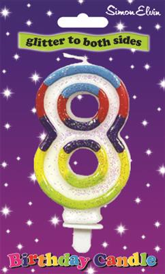 CDL909|6pk Number Candles 8 Birthday