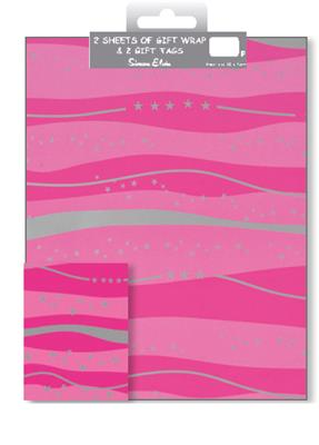 12F2585|12pk Folded Wrap & Tags Designer