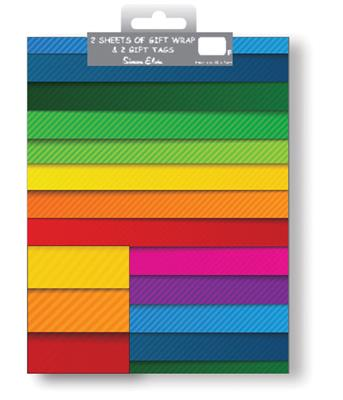 12F2556|12pk Folded Wrap & Tags Designer