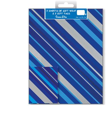 12F2558|12pk Folded Wrap & Tags Designer