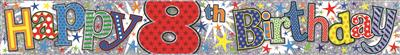 WB2042|12pk Wall Banners Birthday Age 8