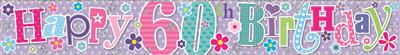 WB2089|12pk Wall Banners Birthday Age 60