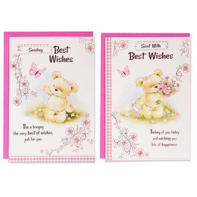12pk Cards C50 Best Wishes