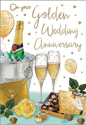 C80046|6pk Cards C75 Your Golden Anniversary
