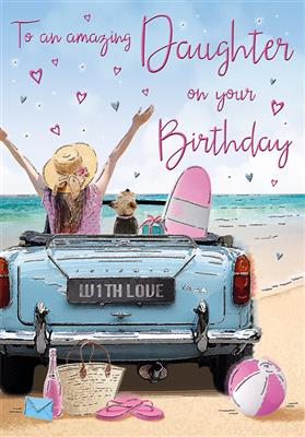 C80437|6pk Cards C75 Birthday Daughter