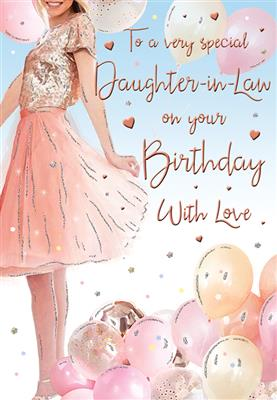C80438|6pk Cards C75 Birthday Daughter-In-Law