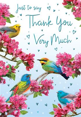 C80460|6pk Cards C75 Thank You