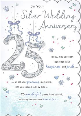 C80533|6pk Cards C75 Your Silver Anniversary