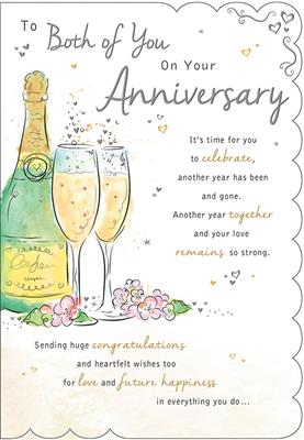 C80536|6pk Cards C75 Your Anniversary