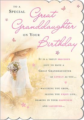 C80552|6pk Cards C75 Birthday Great-Granddaughter