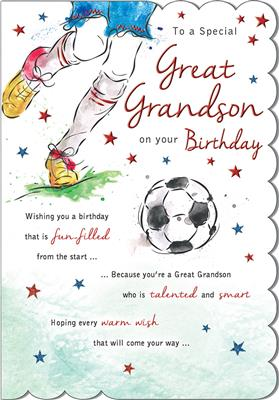 C80553|6pk Cards C75 Birthday Great-Grandson