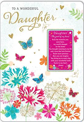 C80586|6pk Cards C75 Birthday Daughter