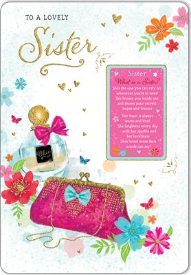 C80588|6pk Cards C75 Birthday Sister