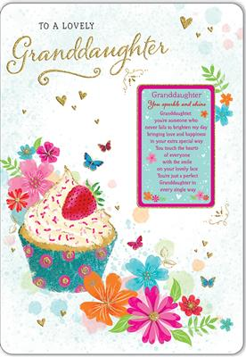 C80589|6pk Cards C75 Birthday Granddaughter