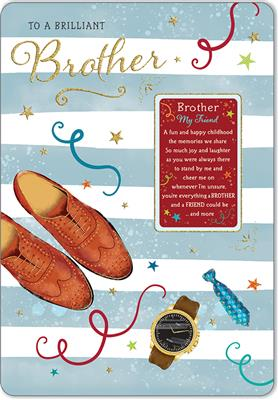 C80596|6pk Cards C75 Birthday Brother