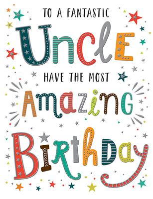 C80673|6pk Cards C50 Birthday Uncle