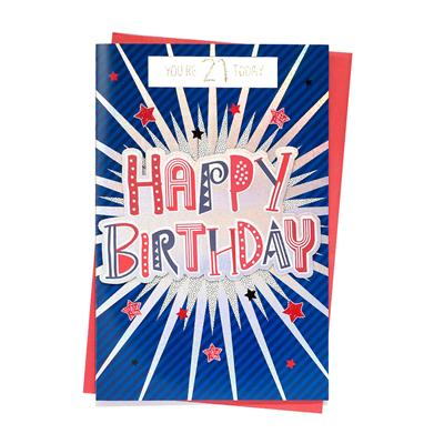 6pk Cards C150 Birthday Age 21
